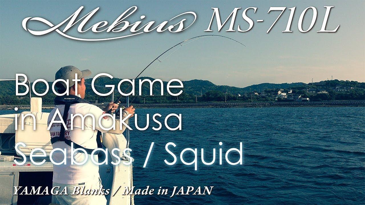Mebius710L ボートエギング / シーバス実釣動画